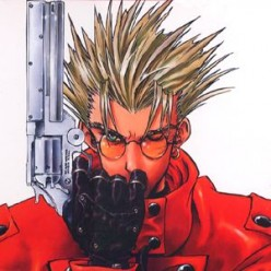 Vash the Stampede with his infamous gun