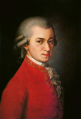 Oil painting of Wolfgang Amadeus Mozart  by Barbara Krafft. Mozart is one of the best opera con posers.