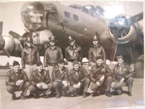 The Bad Egg crew from the 570th. Dad is in the front row, second from the right.