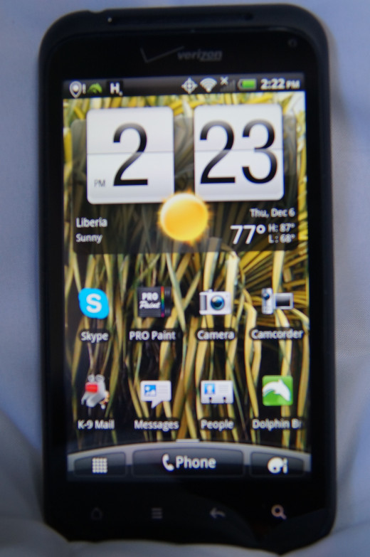 The HTC Droid Incredible 2 is a well-built Android phone that fits in the hand well and it is fairly light.  It is based on an older Android operating system, but it has a great camera.
