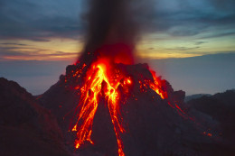 The Paluweh volcano in Indonesia is very active and creating a lava dome.