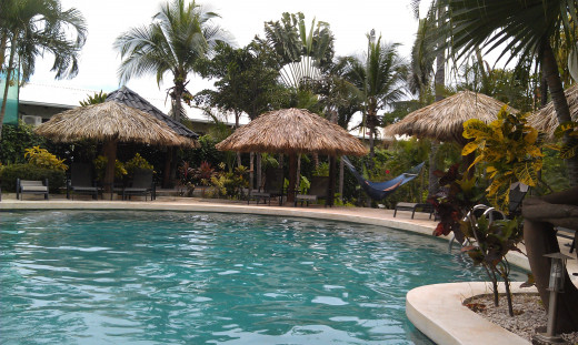 Poolside at the Jardin de Eden resort in Tamarindo, Costa Rica.