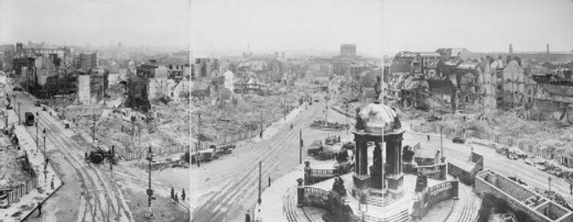 An overview of the general destruction in Liverpool after the Blitz attacks