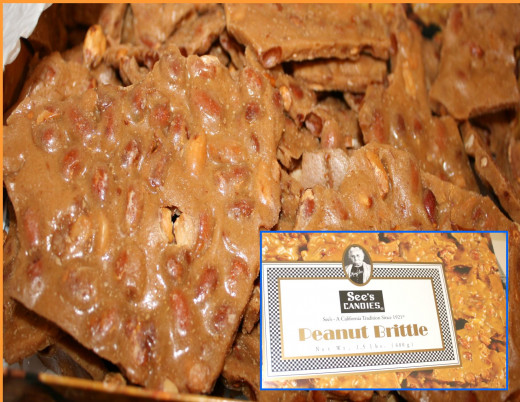 The best peanut brittle EVER!  How do they make it so toothsome AND not create a sticky mess on your teeth, I have no idea!