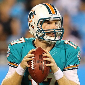 Ryan Tannehill has shown the Dolphins some good things and may be the QB they've been waiting for since Marino's departure.