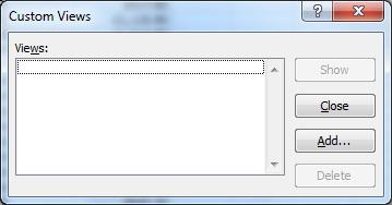 Custom Views dialog box