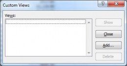Custom Views dialog box