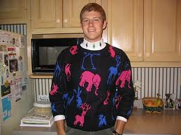 That's a cool sweater man.