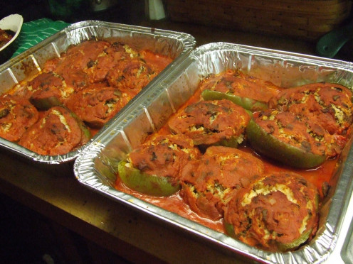 Baked Stuffed Peppers.