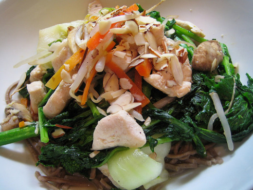 Cook chicken until just done for tasty stir fry dishes.