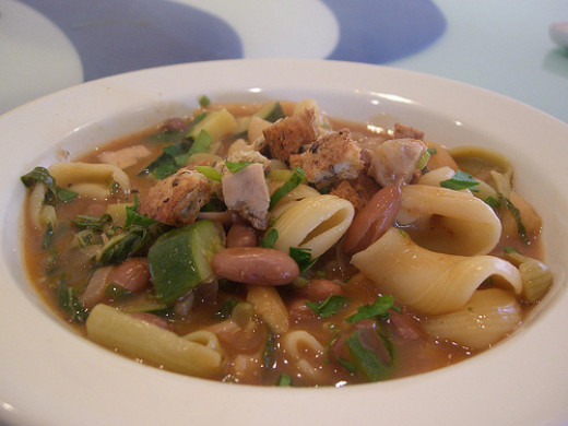 Chicken soup or chicken stew is a great way to use roasted or poached leftover chicken.