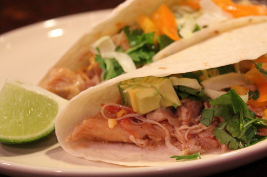 Use leftover chicken or roasted chicken in tacos with cilantro and lime.