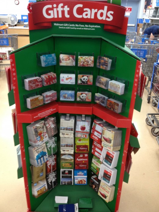 pic of gift card display