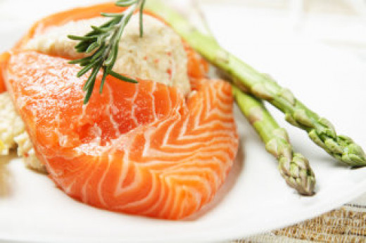 Healthy fish dinner
