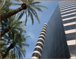 Tower where TGen Central Phoenix offices are located.