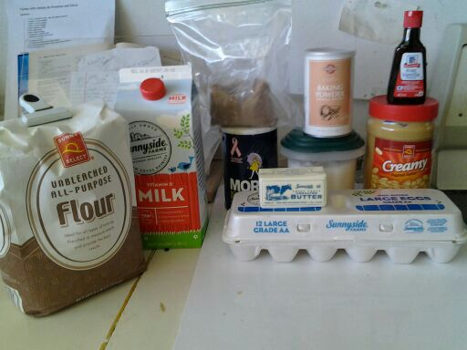Needed Ingredients for Peanut butter coffee cake