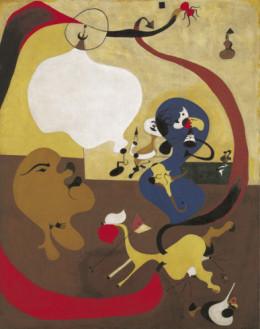 """Joan Miro, """"Dutch Interior II""""1928, oil on canvas,"""