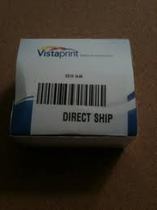Box of 500 business cards from Vistaprint.com. Hand out cards to any potential customers to increase your brand and sales.