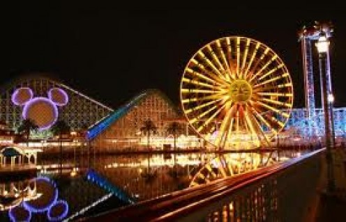 Disneyland in California has many parks, rides and shows just like it's counterpart at DisneyWorld in Orlando, Florida.