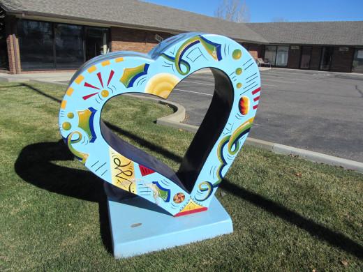 HeART monument in Loveland, CO