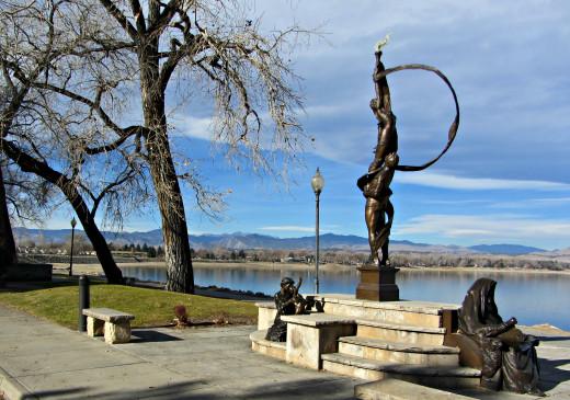 Sculpture at Lake Loveland in Loveland, CO