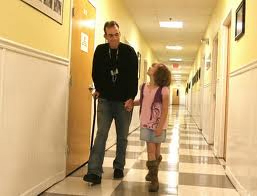 Mr. Brian Nichols and his daughter walking the halls at the shelter 2009. He was one of the residents that taught me a lot of compassion.