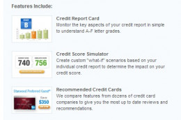 Some of the features of Credit Karma
