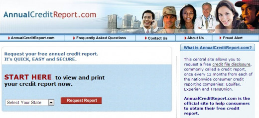 You can check your credit report once a year for free at annualcreditreport.com
