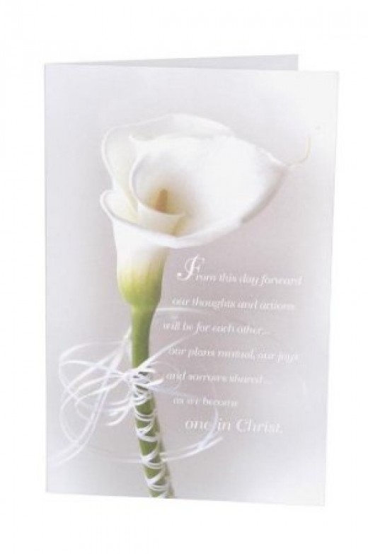 Calla Lily Wedding Program