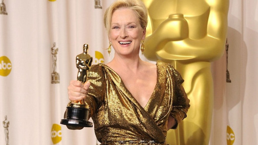 Meryl Streep won her 3rd Oscar for Iron Lady