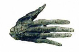 Hand of Glory Whitby Museum  said to be the only real Hand of Glory left. It could also have been used for protection if they had been buried in a wall or behind a chimney.   www.whitbymuseum.org.uk/collections/hogg.htm