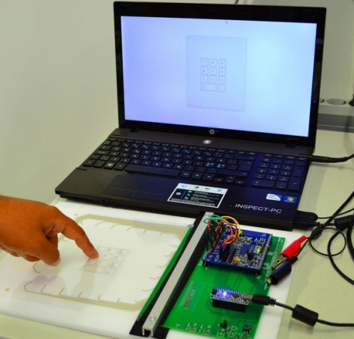 Qii can sense surface and determine user's finger position and force.