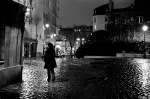 Night stroll in the rain