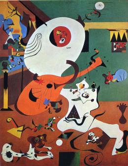 "Joan Miro, ""Dutch Interior I"" 1928, oil on canvas"