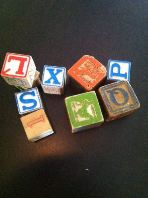 I suppose I could say that these old blocks are the best gift I ever received.