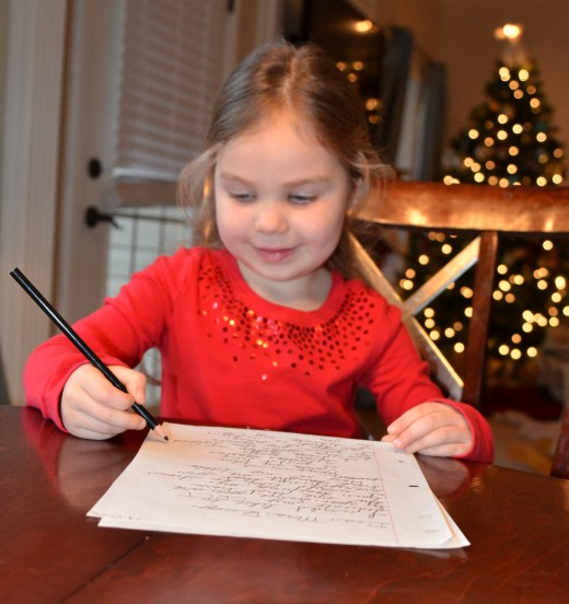 pic of girl writing letter