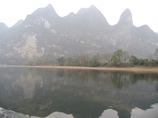 Mountains by the Li River