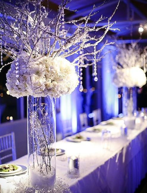 Winter Wedding Centrepieces