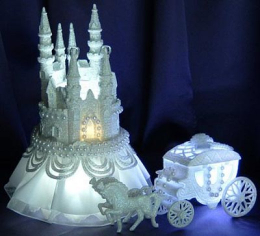 Castle Winter Wedding Cake