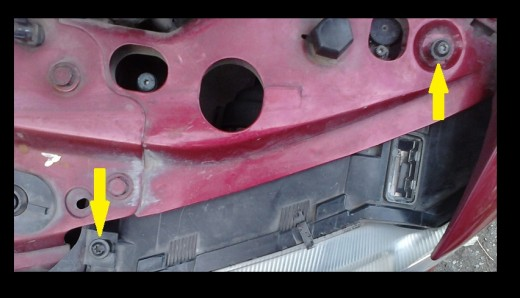 Remove retaining screws.