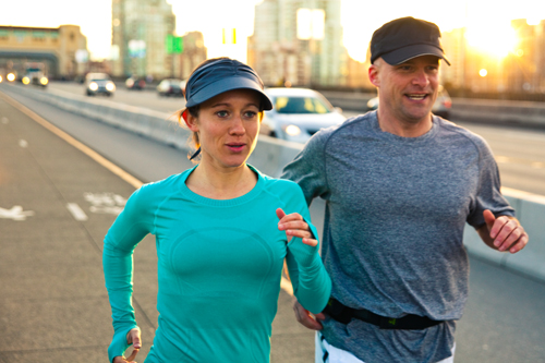 Add a little healthy competition to your workout with a partner.