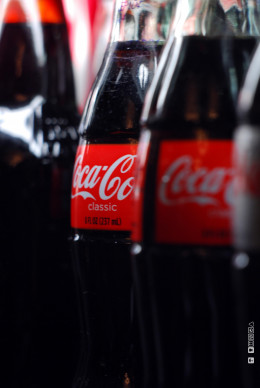 Coca Cola, a substitute good of Pepsi Cola, but with a strong brand
