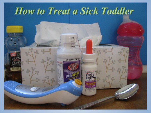 Learn how to treat a sick toddler who may have a fever, a cold, a cough, a stomach virus, or the flu.