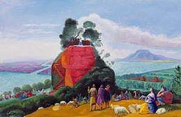 """David Hockney, """"A Bigger Message"""" 2010,  oil on canvas"""