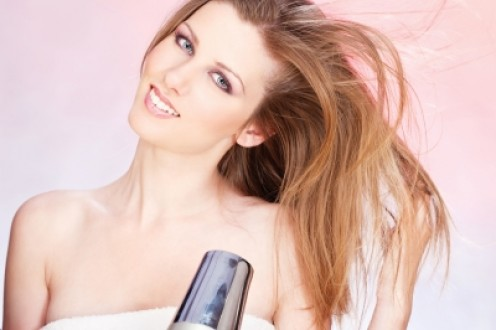 when blowdrying the hair, blowdry at least 6 inches away from the hair to prevent over drying the hair and causing split ends.