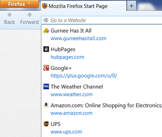 Favicons in recent history make it easy to return to a previously visited website.