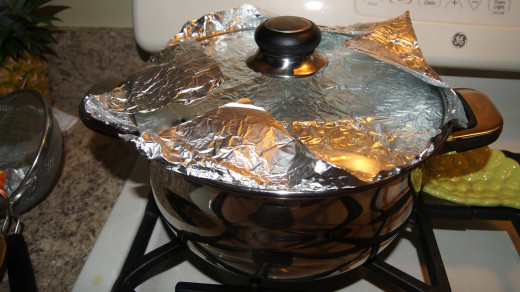 May add foil to the lid to create a better seal.