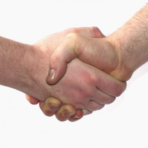 Firm, confident handshake