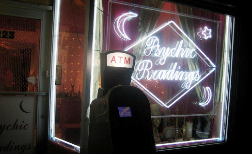 Psychic store front in New York