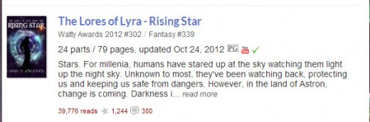 With 39,776 reads (at the time of this article) and counting, The Lores of Lyra: Rising Star is quickly becoming one of Wattpad reader's favorite stories.
